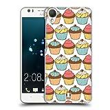 Head Case Designs Yummy Patterns Cupcakes Ruckseite Hülle für HTC Desire 10 Lifestyle
