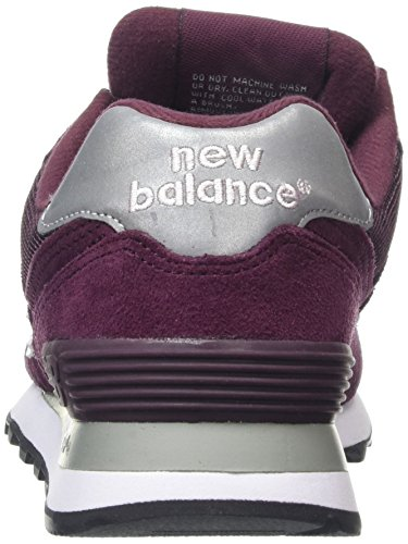New Balance M574 D (13H), Baskets Basses Homme Rouge (Burgundy/512)