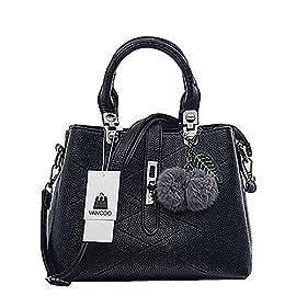 VANCOO 2017 new wave fashion ladies hangbags ladies Top-handle bag women shoulder bag Female bag (Black)