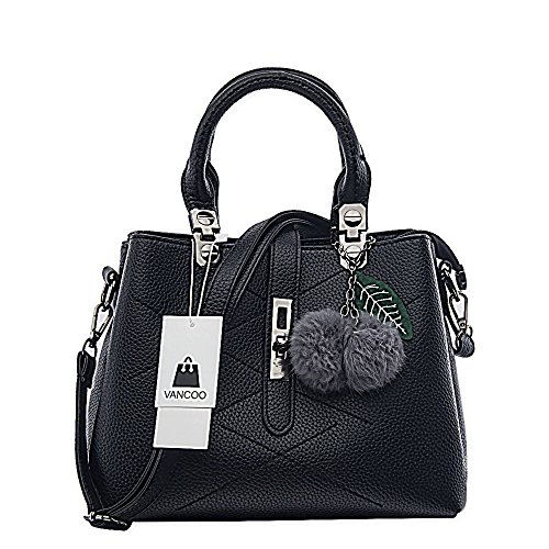 - 51uDGps1DKL - VANCOO 2017 new wave fashion ladies hangbags ladies Top-handle bag women shoulder bag Female bag (Black)  - 51uDGps1DKL - Deal Bags