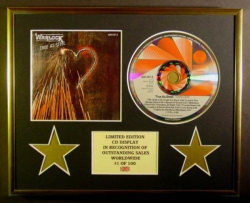 WARLOCK/CD Display/Limitata Edizione/Certificato di autenticità/TRUE AS STEEL