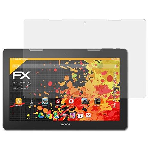 atFolix Panzerfolie kompatibel mit Archos 133 Oxygen Schutzfolie, entspiegelnde & stoßdämpfende FX Folie (2X)