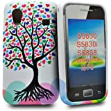 Accessory Master Herz mit Baum blumen Silikon Schutzhülle für Samsung Galaxy Ace S5830