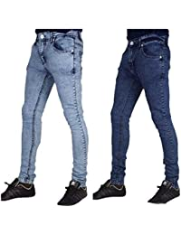 Peviani Extensible Skinny Jeans Hommes, Urbain Super Coupe Slim G Barre Rock Star Jeans