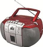Soundmaster SCD5405RO CD-Player rotsilber