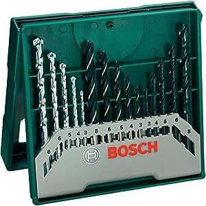Bosch 2607019675 X-Line Set Mini, 15 Punte, Metallo Legno Muro