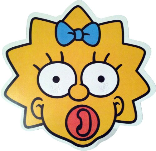 The Simpsons - Maggie - Card Face Mask - Licensed Product