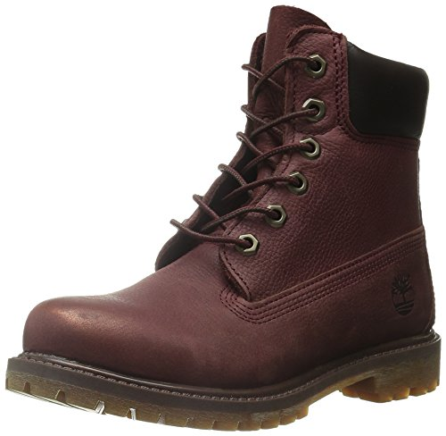 Timberland Damen 6in Premium Boot-W Burgundy Trekking-& Wanderstiefel Burgunderrot