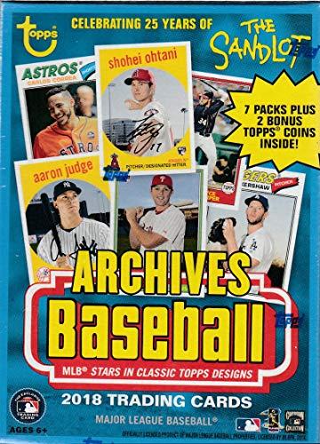 2018 Topps Archives MLB Baseball-Serie ungeöffnete Blaster-Box mit einer Chance für Shohei Otani Rookie Karten und Tonnen Autogramme plus 2 exklusive Münzen - Baseball-karten Topps