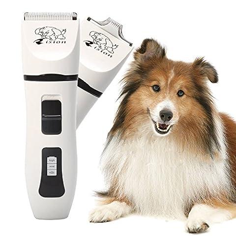 Hundeschermaschine, Rision Tierhaarschneider Tierhaarschneidemaschine Haarschneider Rasierer Kraftvoller Akku Pet