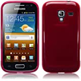 Samsung Galaxy Ace 2 i8160 TPU Gel Skin Case / Cover - Red Part Of The Qubits Accessories Range