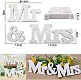 JJOnlineStore - 1 Set Mr & Mrs Wooden Letters Wedding Party Home Room Decoration Sign Top Table Present Decor Photo Booth Present