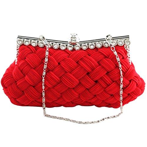Broadfashion, Poschette giorno donna Multicolore Rosso/rosa large rosso