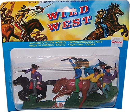 WILD WEST Figurenmodelle (Indianer Vs. Cowboys): 6 Figuren in Blisterverpackung Set 2