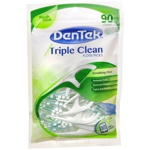dentek-triple-clean-floss-picks-extra-stong-mouthwash-blast-90-ea-pack-of-6-by-dentek-oral-care