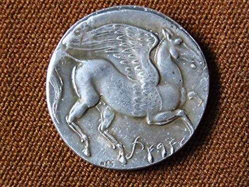 Drachma Ancient Greece Athena Pegasus Tetradrachm Wunderbares Athens Griechisches S III BC Geschichte Archäologie Anthropologie Mythologie Legende Alte antike Sammlung Drachme