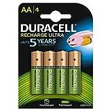 Duracell - Pilas Recargables AA (2500 mAh, 4 Unidades, Recargables, Recargables, Recargables, 4...