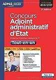 Concours Adjoint administratif d'État - Catégorie C - Tout-en-un - ...