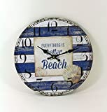 Enter-Deal-Berlin WANDUHR - Beach - 34 cm, Batteriebetrieb
