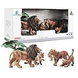 GizmoVine Lion Figurine Set plastica Leone Giocattolo educativo Selvatico Modello Decorazione Regalo per Bambini Ragazzo Compleanno