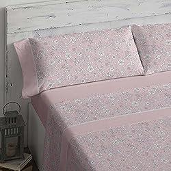 Burrito Blanco - Juego de sábanas 462 Rosa de cama de 150x190/200 cm