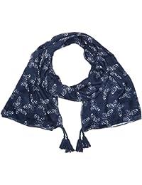 Naf Naf Ubutterfly - Foulard - Imprimé complet - Femme - Bleu (Bleu Marine) 7dea9b69cd9