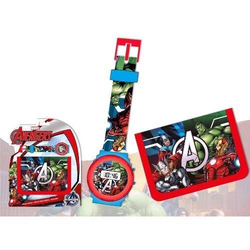 Unbekannt Kids Euroswan Geschenkset mit Digitaluhr und briefttasche Modell Avengers, Composite, mehrfarbig, 25x 7x 20cm