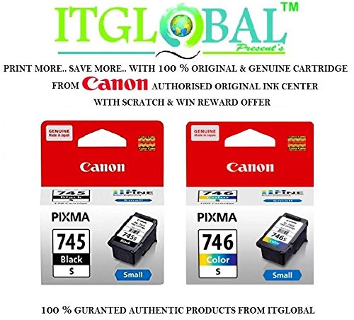 Canon-Combo-Ink-Cartridge-Black-Color-PG-745-Small-CL-746-Small-Set-of-2-Cartridge-Special-ITGLOBAL-Combo-With-Scratch-Win-Offer-745s-746s