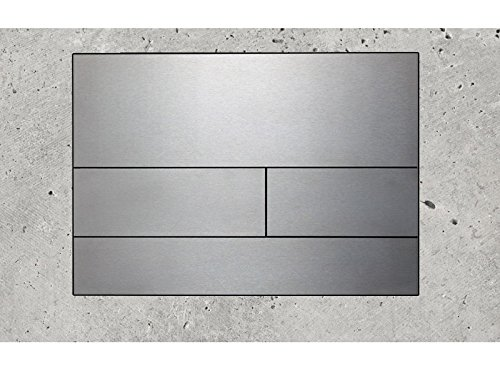 Preisvergleich Produktbild Tece WC- Betätigungsplatte square, Zweimengentechnik, 1 Stück, glas weiß / tasten weiß, 9.240.800