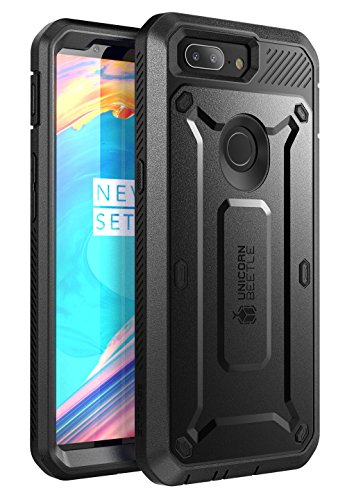 SUPCASE Unicorn Beetle Pro Series Full-Body Drop-Proof Case Cover for OnePlus 5T Built-In Screen Protector and Rotating Belt Clip Holster (Black)