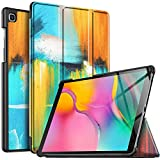 IVSO Hülle für Samsung Galaxy Tab A T515/T510 10.1 2019, Ultra Schlank Slim Schutzhülle Hochwertiges PU mit Standfunktion Ideal Geeignet für Samsung Galaxy Tab A 2019 T515/T510 10.1 Zoll, CH-46