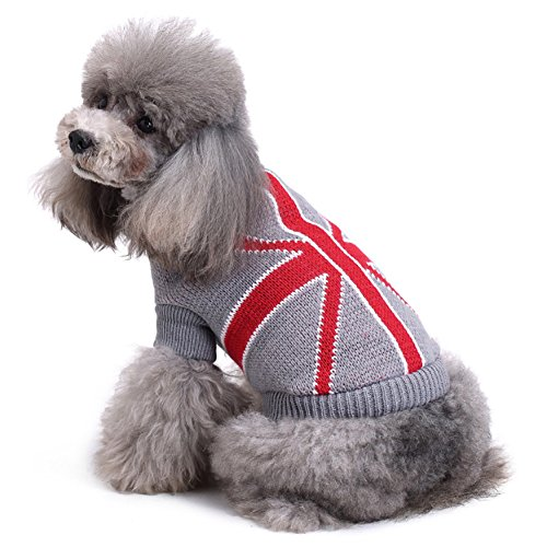 Limin Pet Sweater, Thickening Knitted Pet Ropa para Perros Pequeños Warm Vest...
