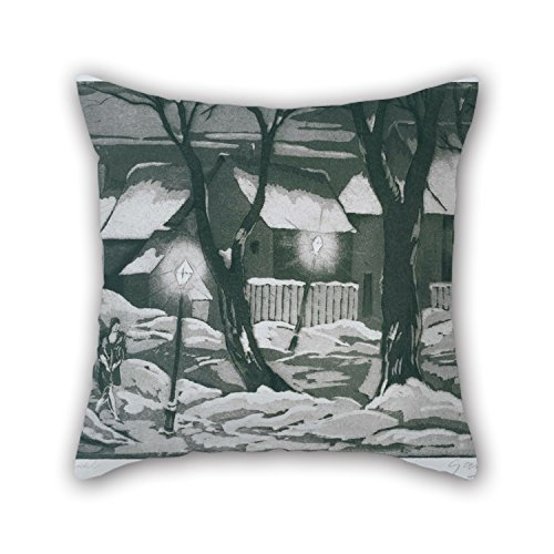 beautifulseason The Oil Painting Emil Ganso - Salzwedel Pillowcase of,18 X 18 Inches/45 by 45 cm Decoration,Gift for Wedding,Chair,Birthday,Girls,Coffee House,Car (Twice Sides)