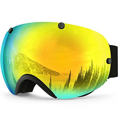 ZIONOR Lagopus XA Professionelle Snowmobile Snowboard Skate Skibrille - Super-Weitwinkel Dual-Layer Linse Anti Nebel UV-Schutz Sphärisch Unisex Erwachsene Multicolor Skibrillen