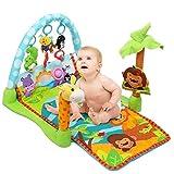 Palestrina Tappeto Neonato Fitch Baby Giungla In Morbido Tessuto Ecologico Con Giocattoli Pendenti E Poggia Piedi (Arancione)