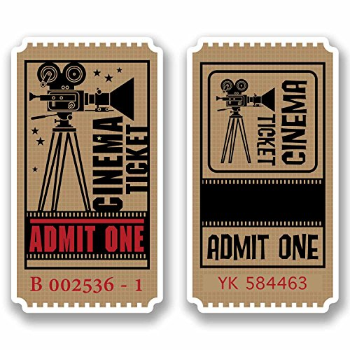 DestinationVinyl DV-9810 Aufkleber, 5.5cm Wide x 10cm Tall, As shown., Stück: 1 Wide Cinema