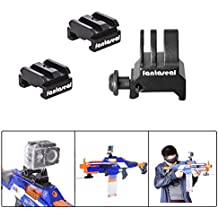 Fantaseal® Picainny Adapter für Nerf to Picatinny Konverter Adapter Action Kamera Picatinny Adapter Set Aluminium Picatinny Rail Adapter Nerf Gun Picatinny Rail Adapter Nerf Spielzeugpistole Picatinny Adapter + Action Kamera Picatinny Adapter für Befestigung von Scope, LED-Blitzlicht, Nachtsichtgerät und andere Picatinny Typ Gear fit für SJCAM Garmin Virb TomTom Bandit AKASO DBPOWER GEEKPRO QUMOX ICEFOX Vic Tsing Topjoy KIPTOP MAOZUA GoPro Stil Action Kamera, Airsoft Adapter