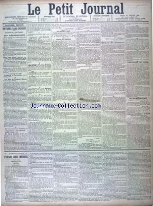 PETIT JOURNAL (LE) [No 11533] du 24/07/1894