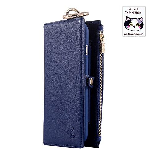 Grande Vendita - 60% Off - Woolala Portafogli Telefono Caso Iphone / Samsung, 2-In-1 Borsa In Pelle Con Supporto Della Cassa Del Telefono Staccabile, S7Brown iphone7PBlu