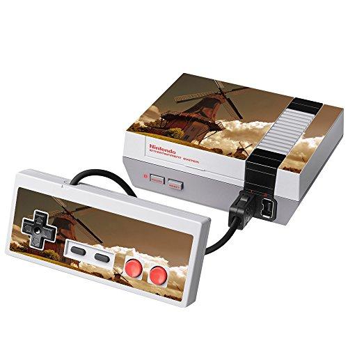 Paesaggi 157, Mulino a Vento, Skin Autoadesivo Sticker Adesivi Pelle Cover Decal Set con Design Strutturato con NES Classic Mini Autoadesivo