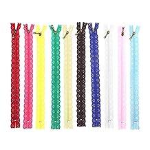 10st 25cm kanten rits nylon rits gemengde kleur stijl knop zijden vorm voor het naaien van kledingaccessoires