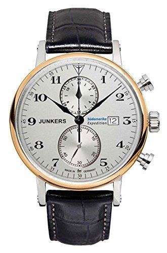 Junkers Reloj de Pulsera Cronógrafo Cuarzo Piel 65865