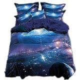 CHAOSE 3D-Universum-Planetenserie Für Astronomiebegeisterte Bettwäsche Set Gute Qualität Superweiche Polyester-Baumwolle,3-teilig (1 Bettbezug + 2 Kissenbezüge)