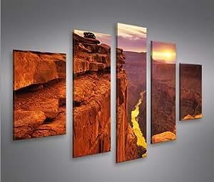 Grand canyon mf 5 quadri moderni su tela pronti da appendere montata su pannelli in legno - Quadri da appendere in cucina ...