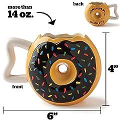 Idea Regalo - BigMouth Inc Donut Tazza da Caffè