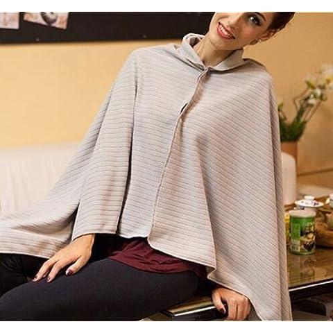 XQXAnti-statica Polar Fleece coperta PI Tan Sprout Capo dello scialle NAP coperta lenzuola Auto portatili (Peluche Fleece Tiro)