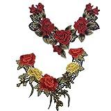 Segolike 2 Pieces Floral Collar V-Neck L...
