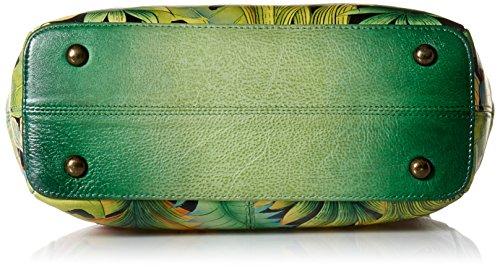 Anuschka dipinta a mano, in pelle di lusso a 3 scomparti, 525 Cabrio Tote, Multicolore (Rousseau's Jungle), Multicolore (Rousseau's Jungle)