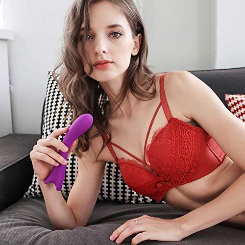 Vibromasseur pour Femme, Godemichet Vibrant Silicone PALOQUETH vibrateur clitoridien 9 Modes de Vibration Imperméable