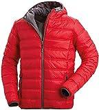 Nordcap Herren Stepp-Jacke in Daunenoptik, Outdoorjacke in Rot, tolle Übergangs- & Winterjacke, 100% Wattierung (Gr: M - XXL)